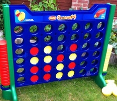 Giant connect four, connect 4, garden game available for hire. Great for childrens party, outdoor fun game in basingstoke area