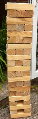 Giant outdoor garden game classic jenga. Brilliant for kids, childrens party, birthday party and wedding in basingstoke hampshire